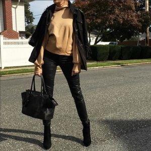 H & M Black Faux Leather Skinny Pants